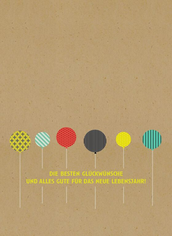 Alles Gute zum Geburtstag GermanLanguage Birthday Card Greeting – Birthday Card in German