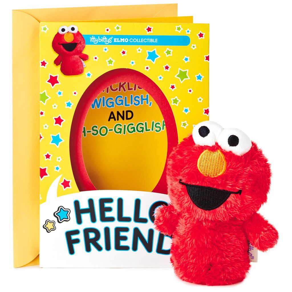 Itty Bittys Sesame Street Elmo Birthday Card With Stuffed Animal