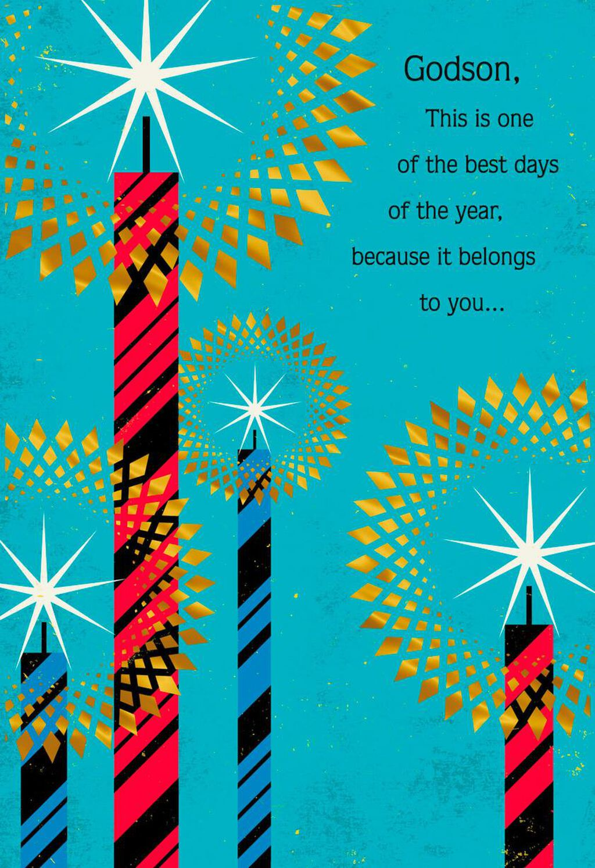 Birthday Candles Birthday Card For Godson Greeting Cards Hallmark