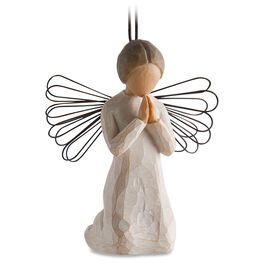 Willow Tree® Angel of Prayer Ornament, , large