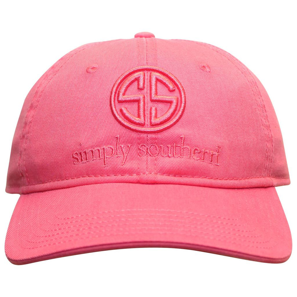 a2efe55c31a Simply Southern Pink Embroidered Logo Baseball Cap - Scarves