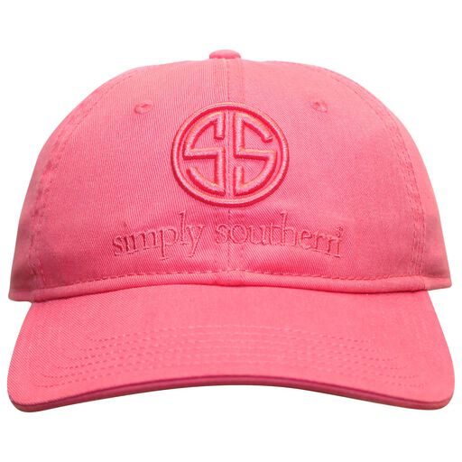 Simply Southern Pink Embroidered Logo Baseball Cap 6a7e51fea3c
