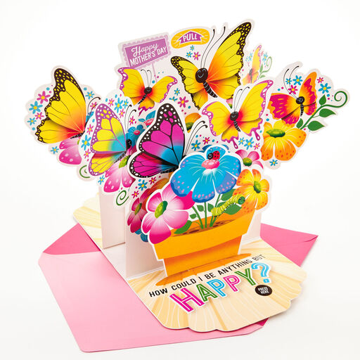 Butterflies And Flowers Pop Up Musical Mothers Day Card