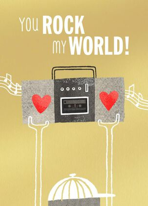 You Rock My World Blank Valentine's Day Card