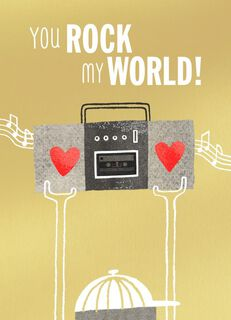 You Rock My World Blank Valentine's Day Card,