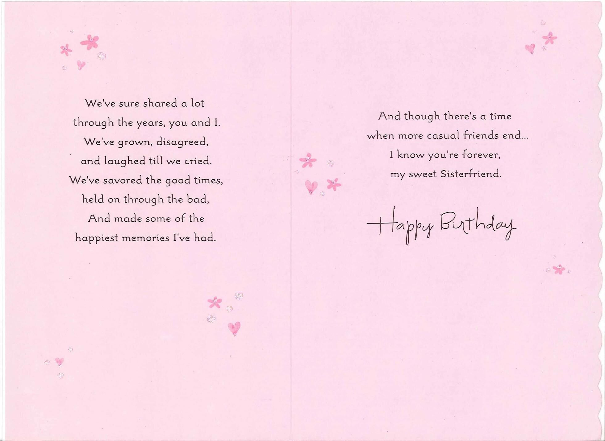 Sisterfriends Birthday Card for Her Greeting Cards Hallmark