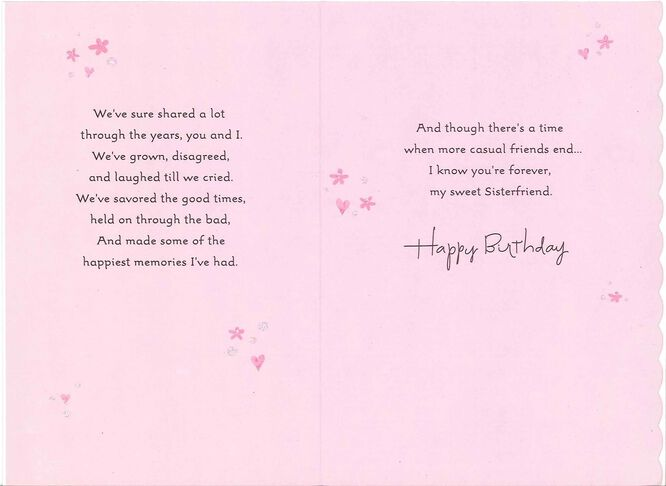 Sisterfriends Birthday Card for Her Greeting Cards Hallmark – How to End a Birthday Card