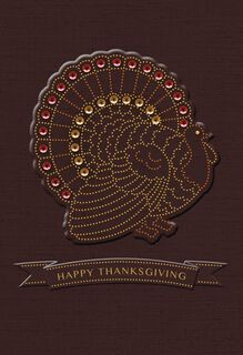 Turkey With Banner Thanksgiving Card,