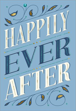 Happily Ever After Blank Wedding Card