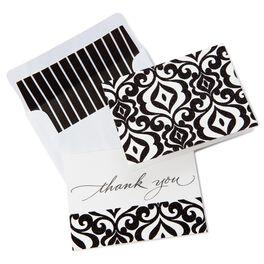 Feminine Damask Thank You Notes, Pack of 50, , large