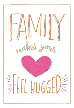 Heart Hugs for Daughter Valentine's Day Card
