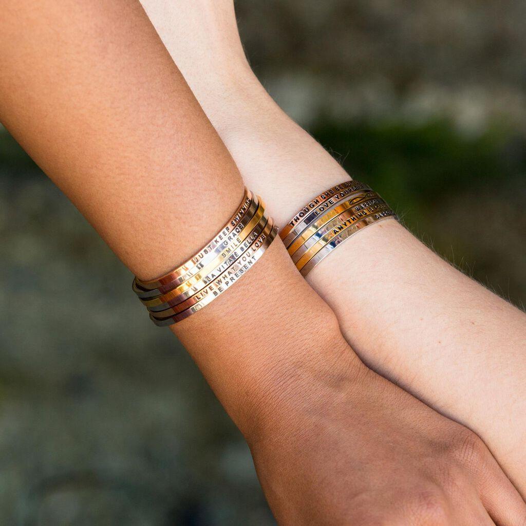 e2bc977d132 Mantraband Though She Is Fierce Bangle Bracelet - Jewelry - Hallmark
