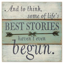 Life's Best Stories Rustic Wood Sign, , large