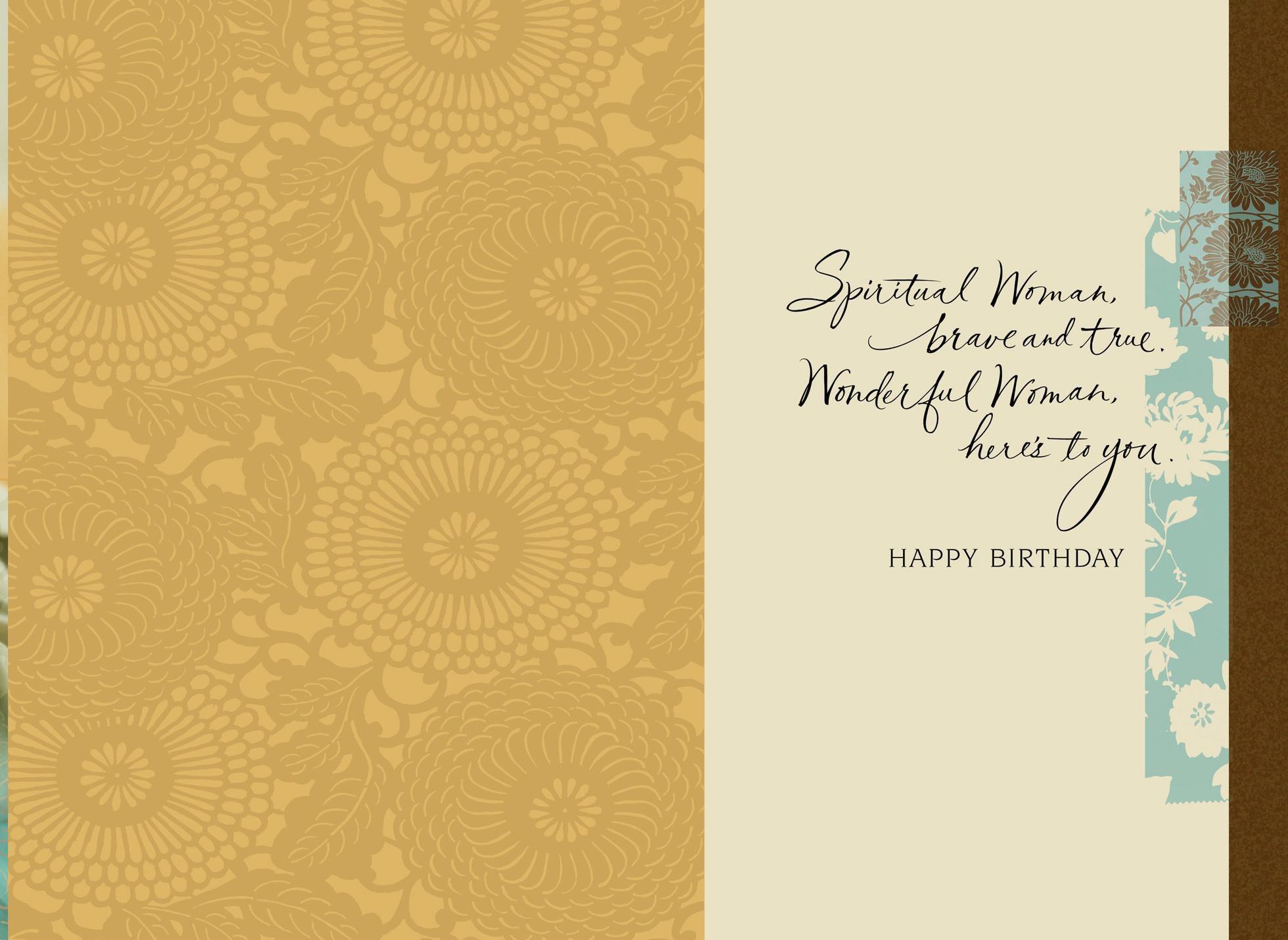 beautiful woman birthday card  greeting cards  hallmark