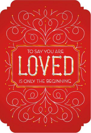 You are Loved Valentine's Day Card for Daughter and Husband