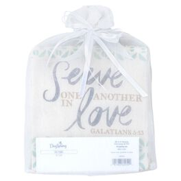 DaySpring Serve One Another Muslin Tea Towel, 18x24, , large