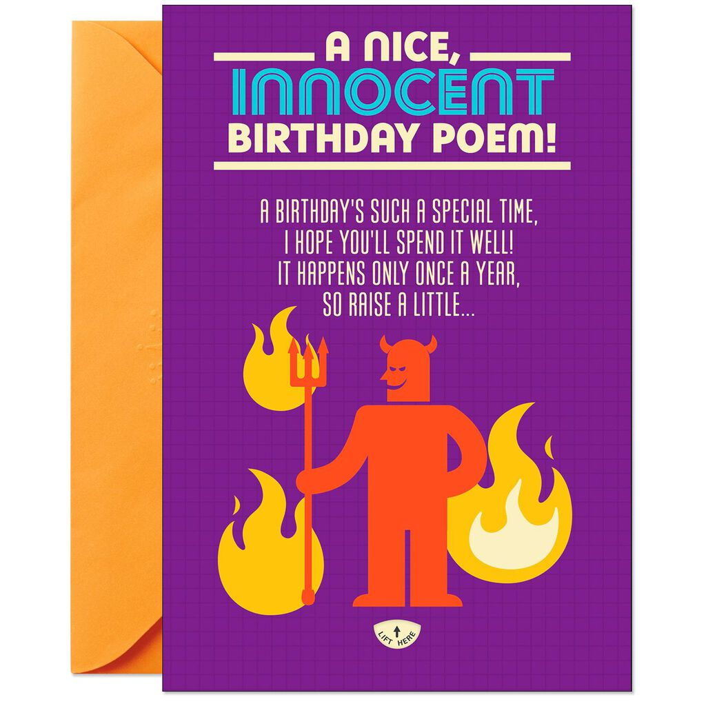 Innocent Poem Lift The Flap Booklet Birthday Card