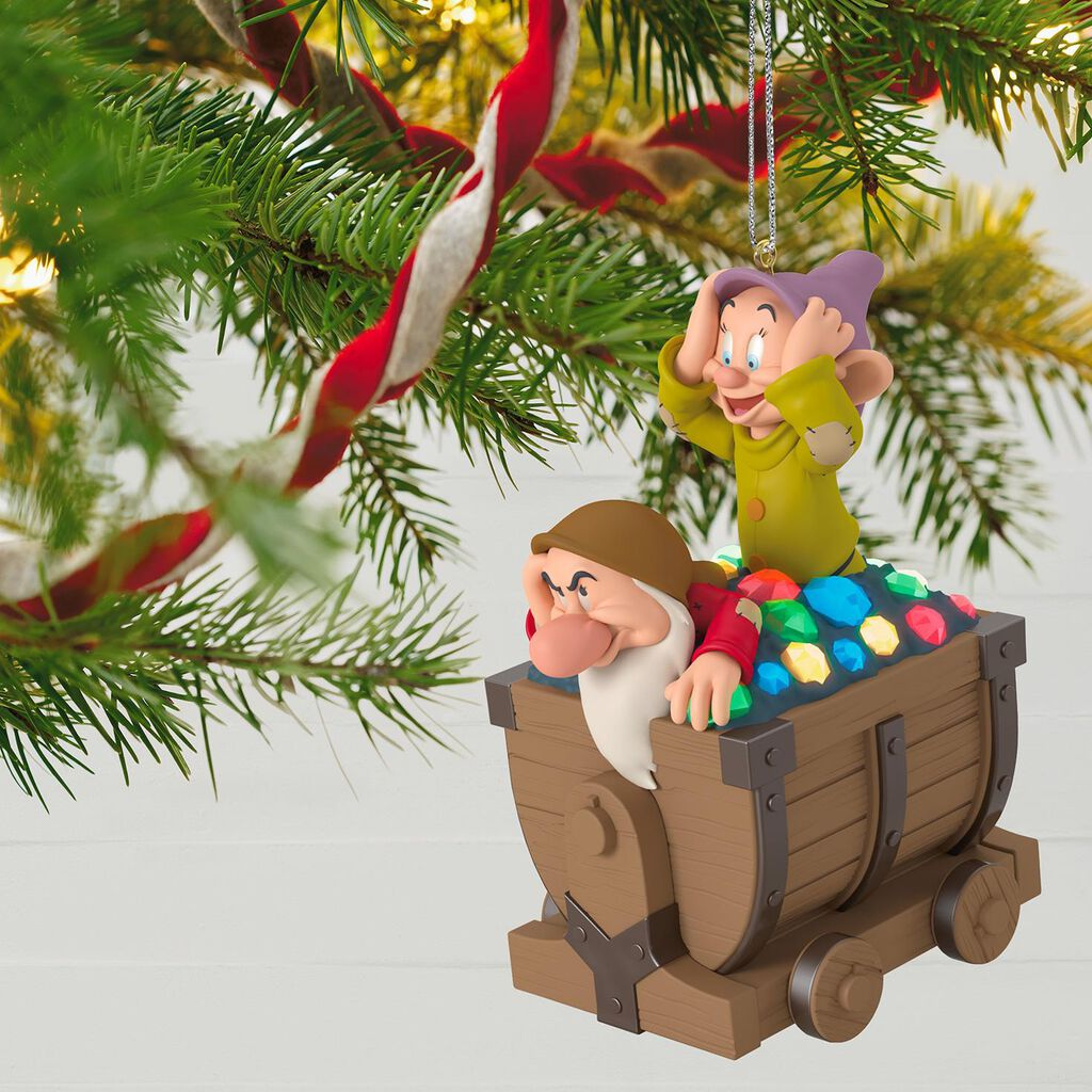musical ornament with light disney snow white and the seven dwarfs off we go musical ornament with light