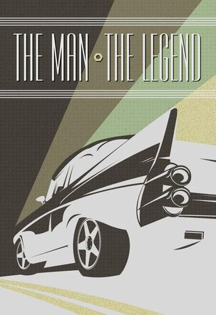 The Man, The Legend, Car-Theme Father's Day Card