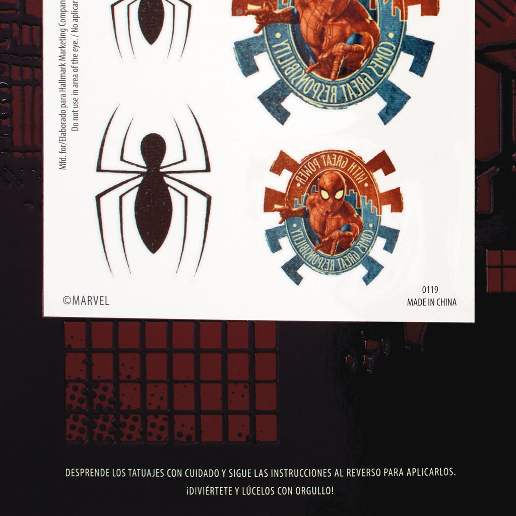 23d5b93aeb179 ... Marvel Spider-Man Spanish-Language Father's Day Card With Temporary  Tattoos ...
