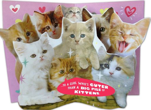 Pile of Kittens Valentine's Day Card,