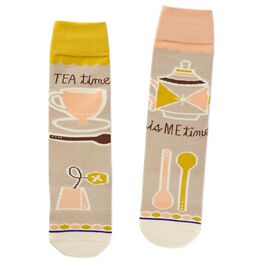 Tea Time Toe of a Kind Socks, , large