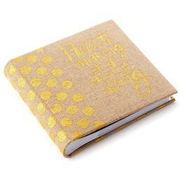 Burlap Photo Album, , large