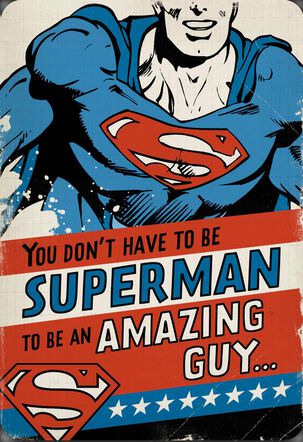 Amazing Guy Superman™ Funny Musical Birthday Card