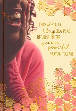 You Are a Positive, Powerful Woman Religious Birthday Card