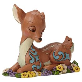 Jim Shore® Flower Bed Fawn Figurine, , large