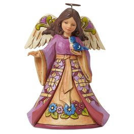 Jim Shore® Sing the Prayer in Your Heart Angel and Bluebird Figurine, , large