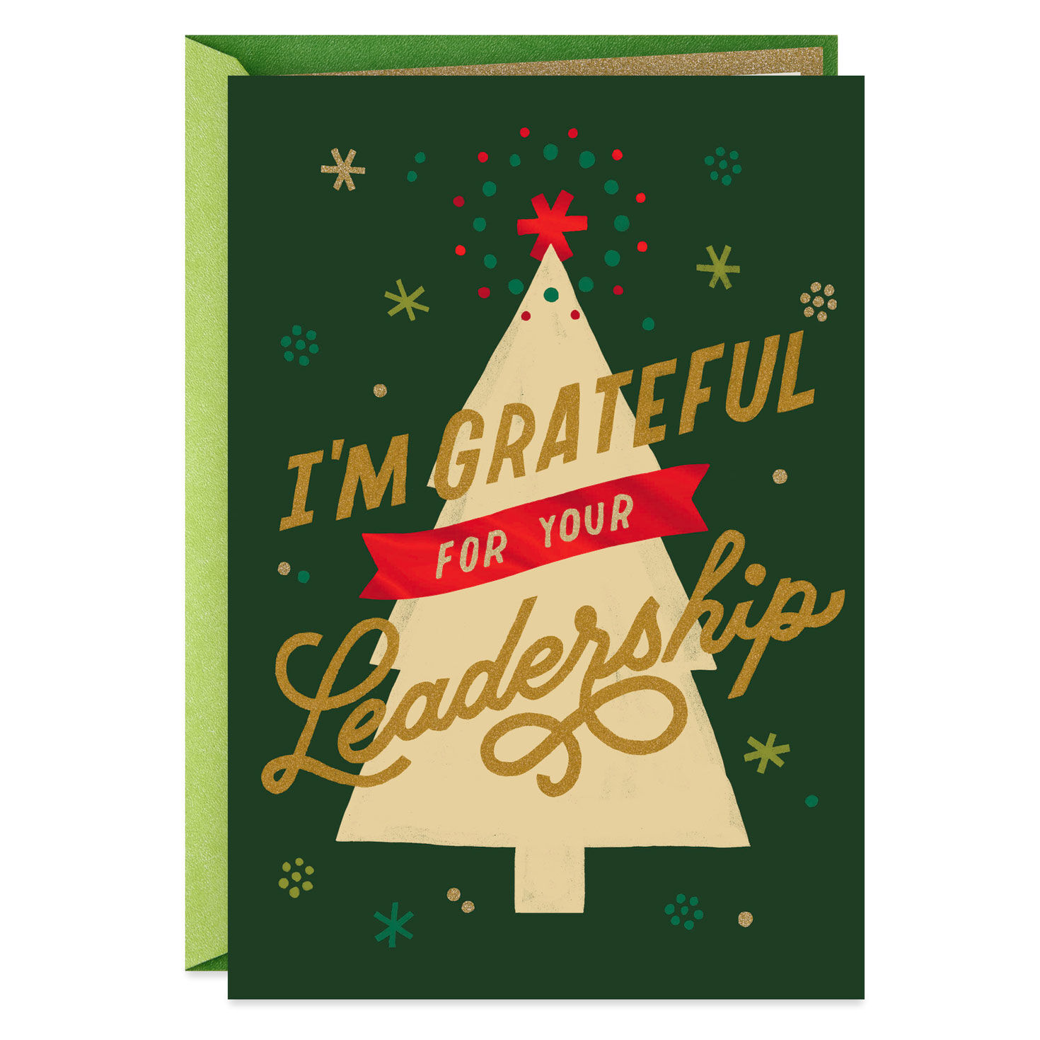 Grateful For Your Leadership Christmas Card For Boss Greeting Cards Hallmark
