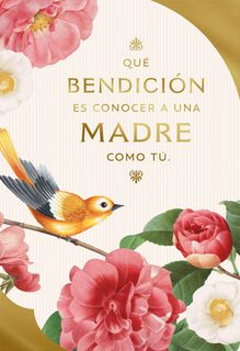 You're a Blessing to Know Religious Spanish-Language Mother's Day Card,