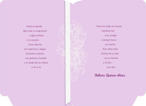 Inspired Words Spanish-Language Religious Quinceañera Card,