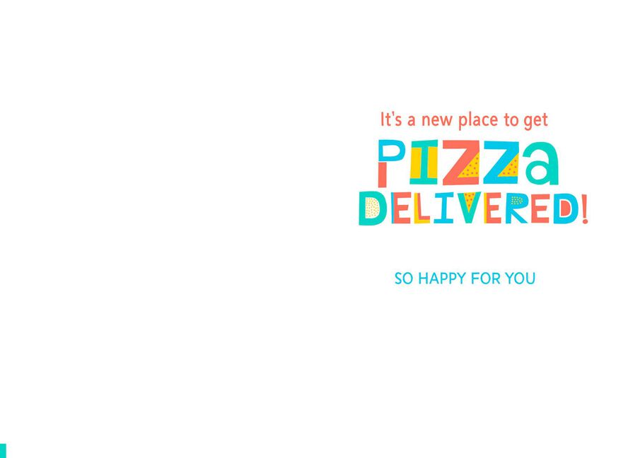 New Address For Pizza Delivery New Home Congratulations Card