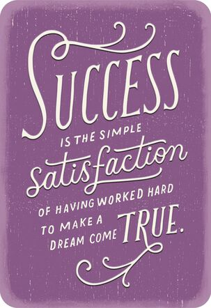Impressed By Your Success Congratulations Card