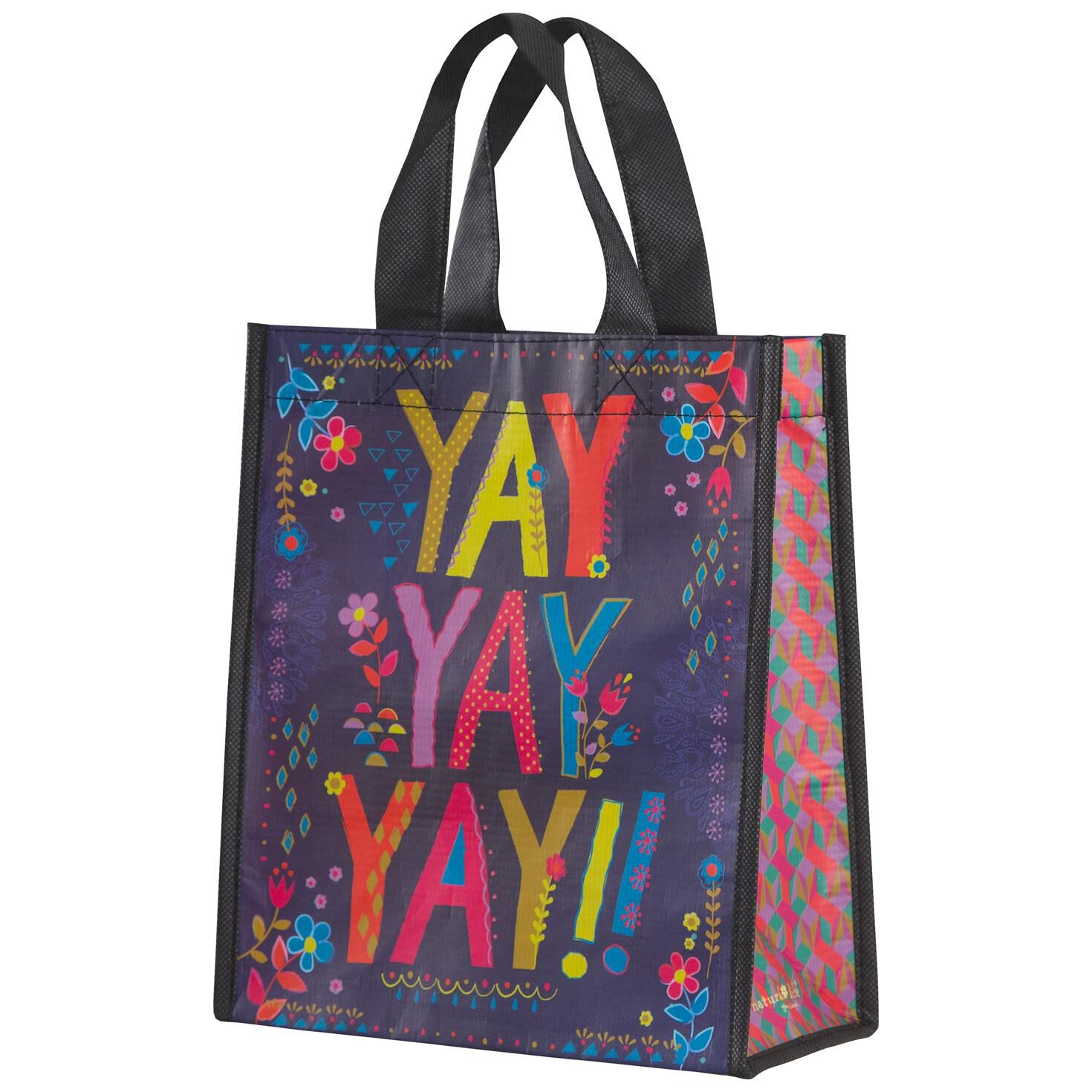 Natural Life Yay Medium Reusable Gift Bag Handbags Purses Hallmark