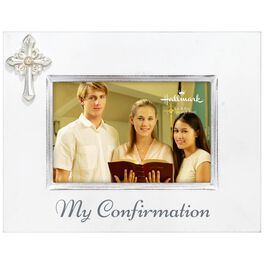 Confirmation Wood Picture Frame With Cross, 4x6, , large