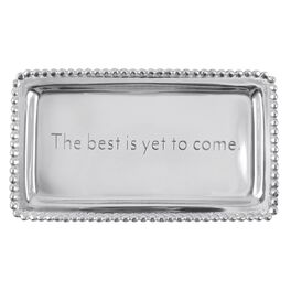 "The Best Is Yet to Come Silver Aluminum Wedding Trinket Tray, 6.75"", , large"