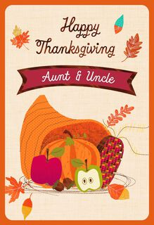 Cornucopia Pick-a-Title Family Thanksgiving Card,