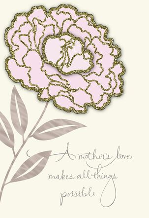 Pink Flower Birthday Card for Mom