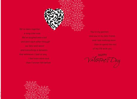 Husband Partner Friend Valentines Day Card Greeting Cards – Valentines Day Friend Card