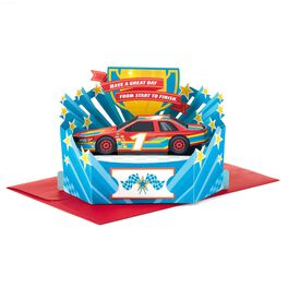 Race to the Finish Pop Up Birthday Card, , large