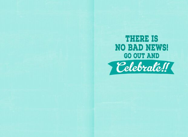 Bad News Funny 16th Birthday Card