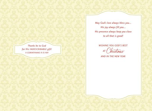 true gifts religious christmas card