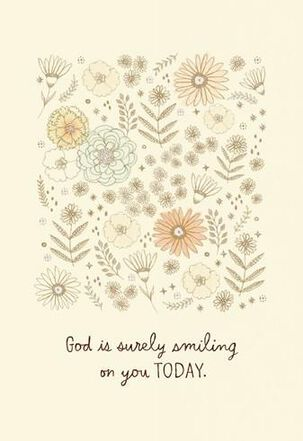 God Is Smiling Congratulations Card