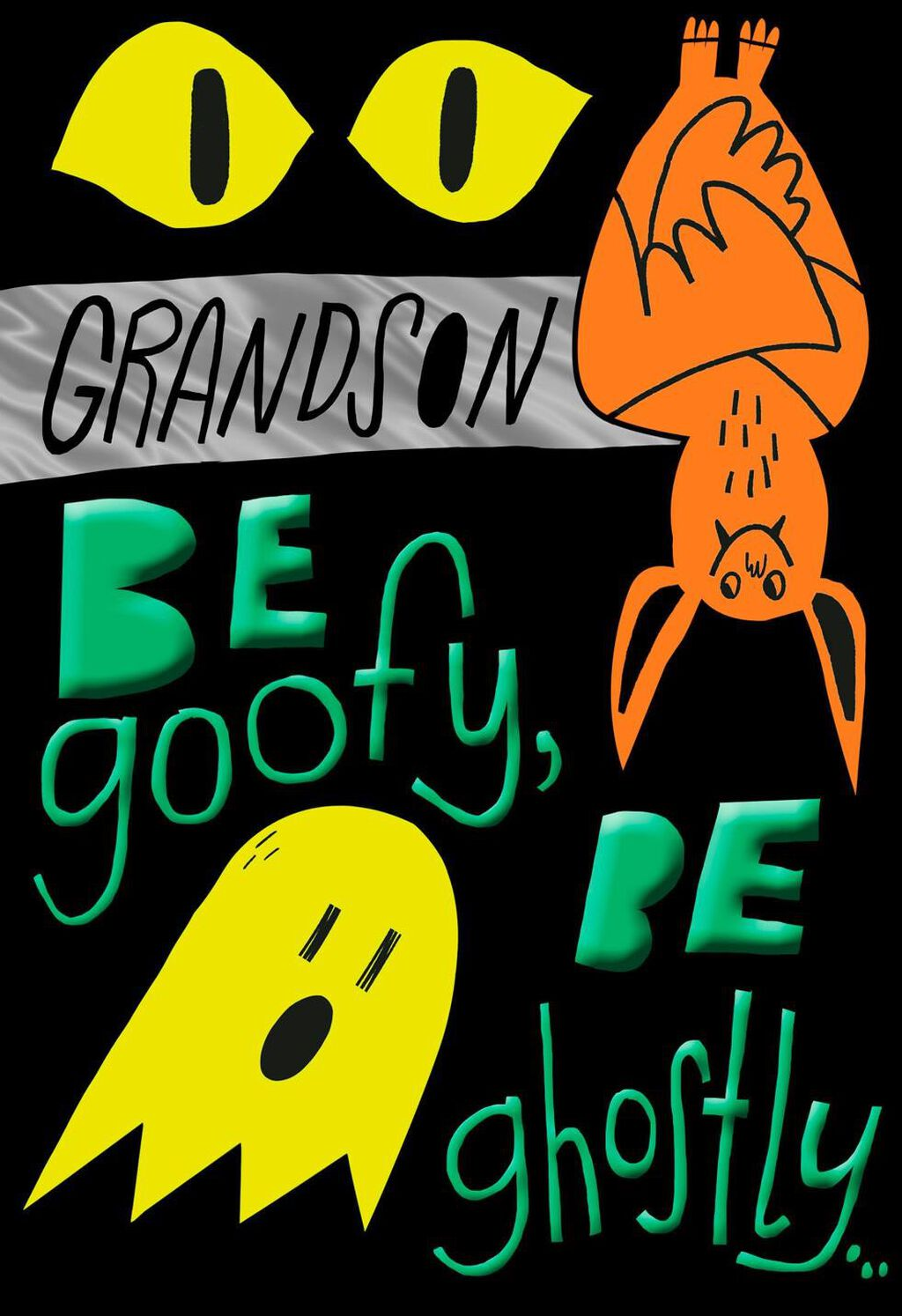 fun halloween wishes for grandson halloween card - greeting cards