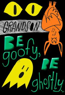 Fun Halloween Wishes for Grandson Halloween Card,