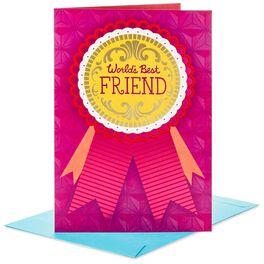 "World's Best Friend Jumbo Friendship Card, 16"", , large"