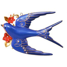 Stunning Swallow Premium Ornament, , large
